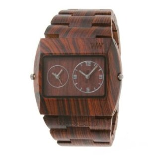 a conversation-piece time-piece.  jupiter brown wooden watch / wewood